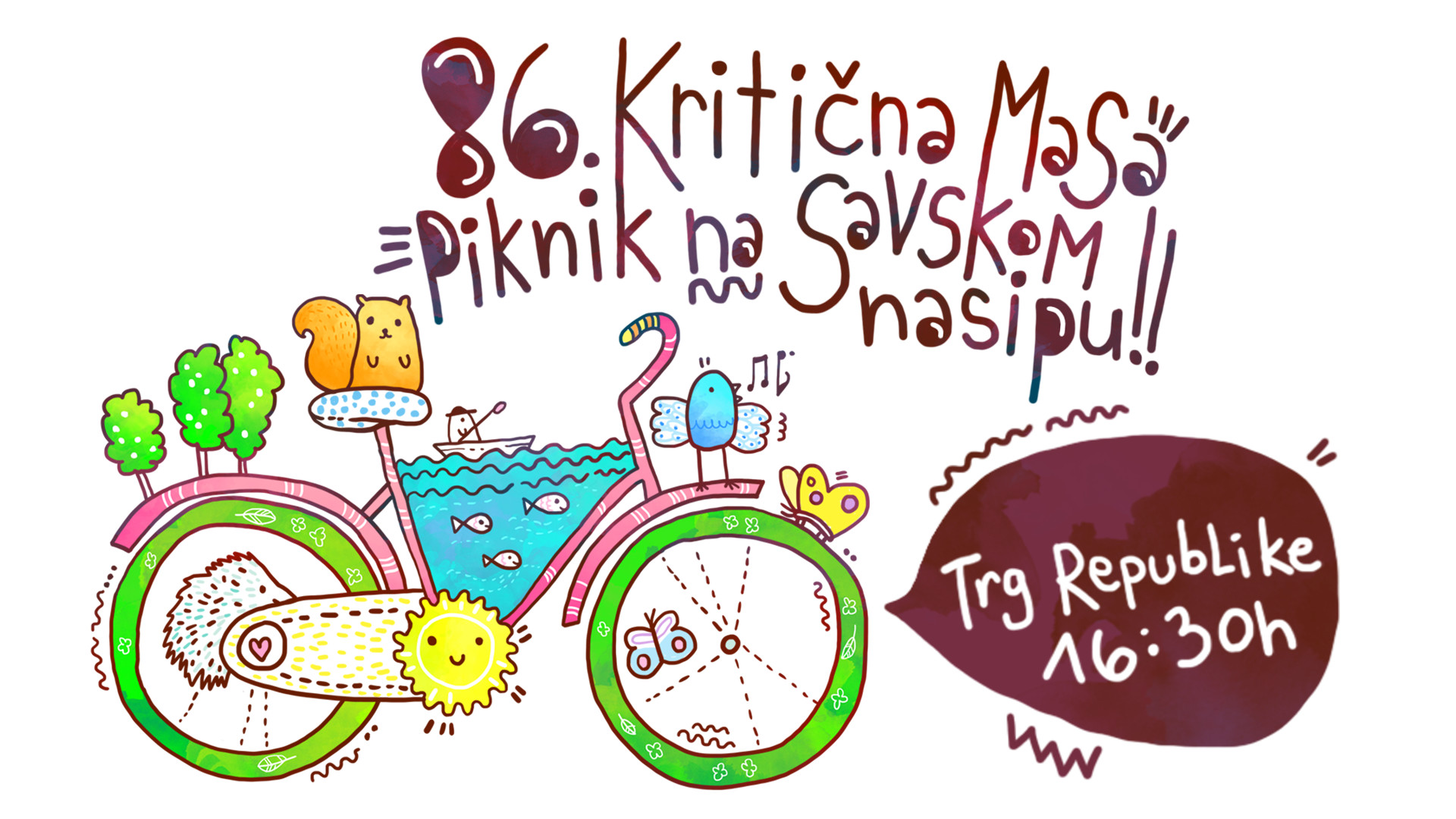 Kritična masa bicikl Beograd coomuting protest
