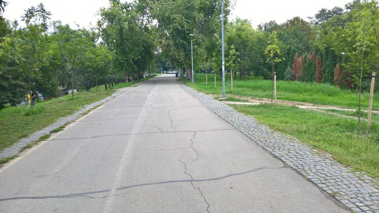 Izbledele biciklističke staze beograd