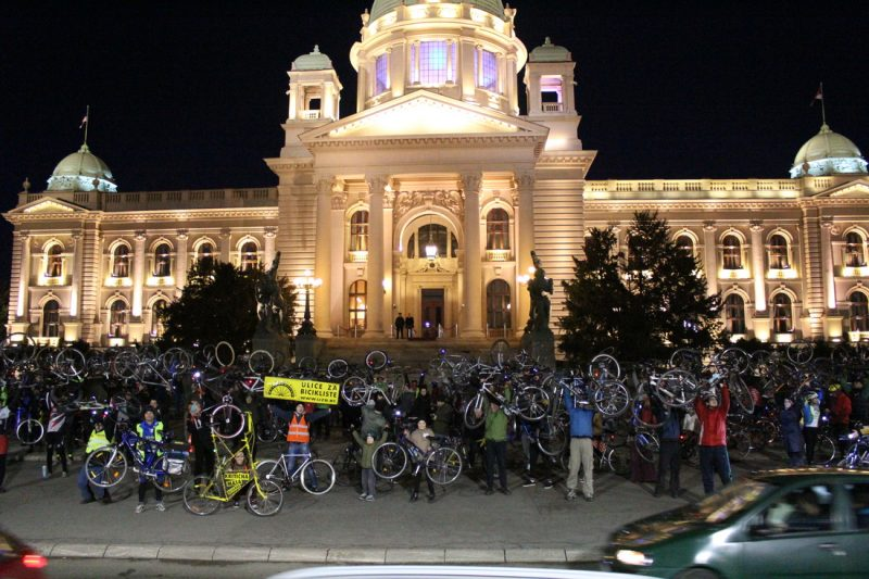 Biciklisti Skupština Svetla su zakon