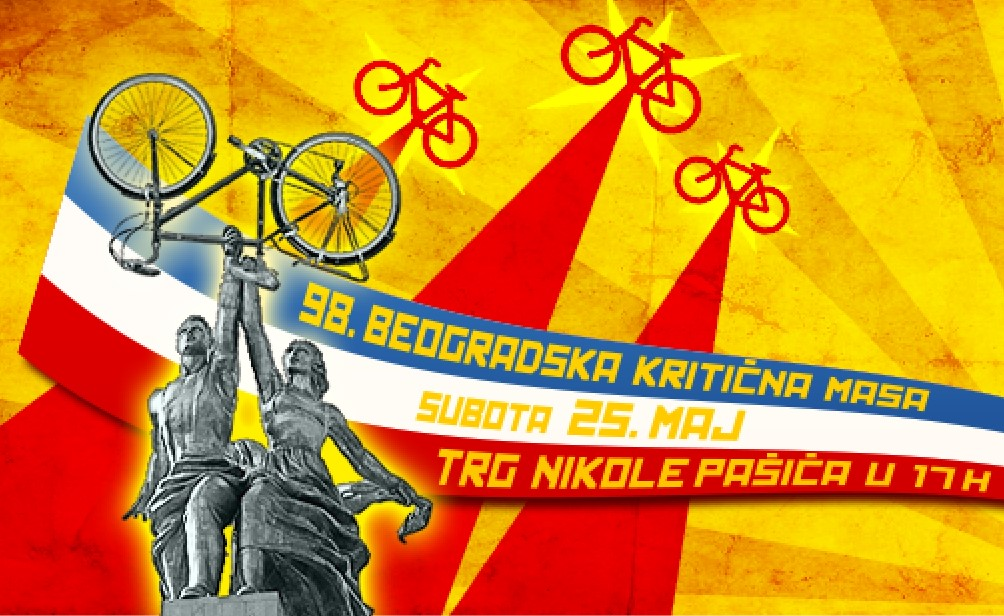 kritična masa 98 najava bicikl beograd vožnja
