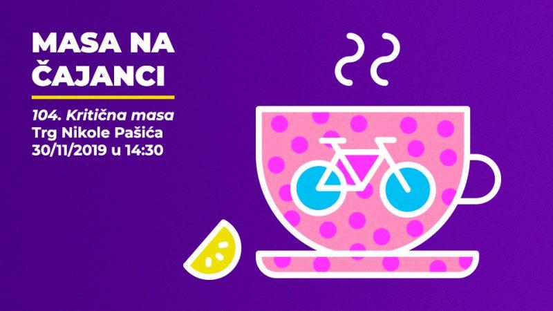 104. Kritična masa Beograd Biciklistička vožnja