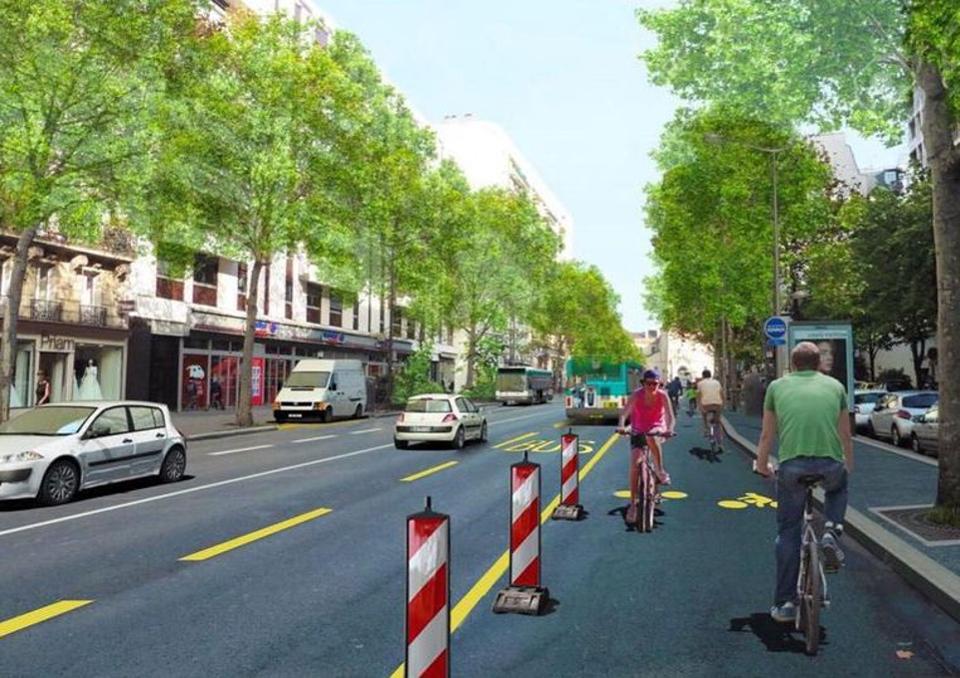 Pariz žute trake bicikl koronavirus